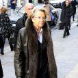 Michele Alliot-Marie lors de l'hommage au cinéaste Georges Lautner, organisé à Paris en l'église Saint-Roch le 5 décembre 2013