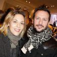 """L'actrice Alysson Paradis et son petit ami lors de l'inauguration d'une nouvelle boutique """"Comptoir des Cotonniers"""" à Paris, le 5 décembre 2013."""