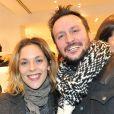 """Alysson Paradis et son compagnon à l'inauguration d'une nouvelle boutique """"Comptoir des Cotonniers"""" au 1 rue des Francs-Bourgeois à Paris, le 5 decembre 2013."""