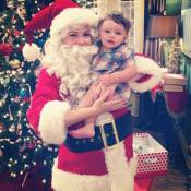 Melissa Joan Hart : Barbue et grimée, Noël avant l'heure avec son petit dernier