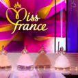 Les 5 finalistes de Miss France 2014 défilent sur le thème de Cendrillon lors de l'élection Miss France 2014 sur TF1 le samedi 7 décembre 2013
