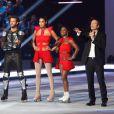 Chloé Mortaud pendant le premier prime d'Ice Show sur M6. Novembre 2013.