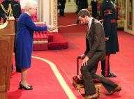 Bradley Wiggins : Anobli en pattes d'eph par la reine devant sa famille émue