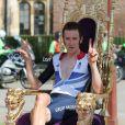 """""""Bradley Wiggins après sa médaille d'or olympique à Londres le 1er août 2012"""""""
