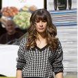 Lea Michele sur le tournage de Glee à Los Angeles, le 7 novembre 2013.