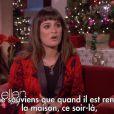 Lea Michele a donné sa première interview télé depuis la mort de son petit ami Cory Monteith à Ellen DeGeneres, le 11 décembre 2013.
