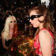 Lady Gaga visite le Palazzo Versace avec Donatella Versace. Milan, le 1er octobre 2012.