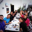 Silvia Notargiacomo déjeune avec les danseurs et les candidats de Danse avec les stars qui se préparent pour la grande tournée DALS.