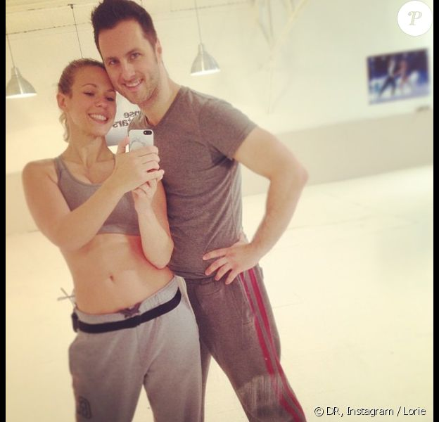 la chanteuse Lorie et Christian Millette lors des répétitions pour la tournée Danse avec les stars.