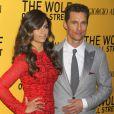 Matthew McConaughey et sa femme Camila Alves lors de la première du film Le Loup de Wall Street à New York, le 17 décembre 2013.