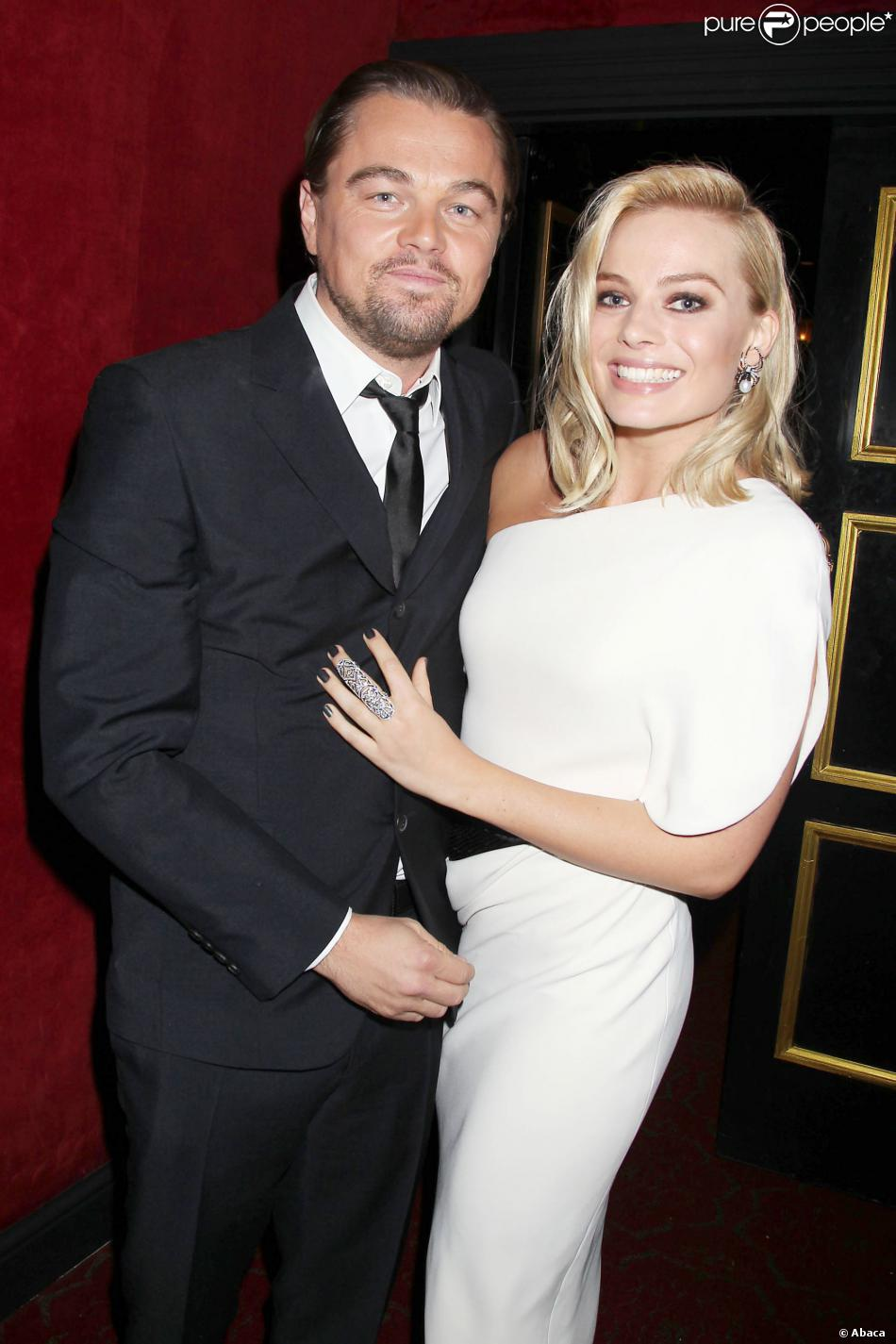 Leonardo DiCaprio et Margot Robbie à la première du Loup de Wall Street à New York, le 147 décembre 2013.