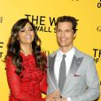 Camila Alves, Matthew McConaughey à la première du Loup de Wall Street à New York, le 147 décembre 2013.