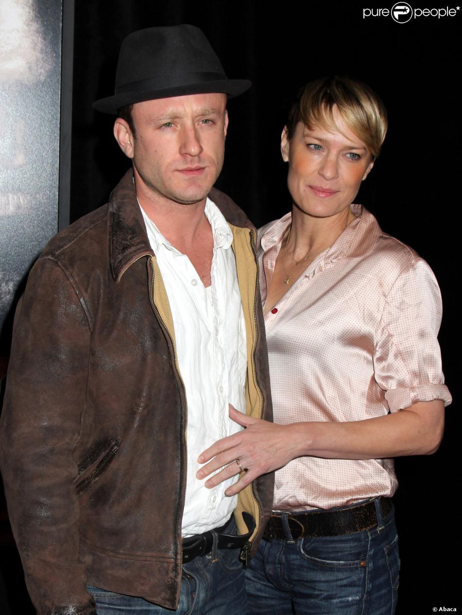 Ben Foster et Robin Wright lors de l'avant-première du Sang et des larmes, en salles le 3 décembre 2013