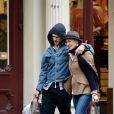 Ben Foster et Robin Wright se promenant à New York le 7 avril 2013