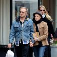 Ben Foster et Robin Wright à New York en promenade à New York le 7 avril 2013