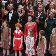 La reine Silvia de Suède lors de la soirée spéciale en l'honneur de ses 70 ans, le 19 décembre 2013 au Théâtre Oscar à Stockholm.