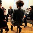 Exclusif - Yamina Benguigui visite l'école de cinéma et d'audiovisuel de Tourcoing, le 19 décembre 2013.