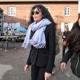 Exclusif : Yamina Benguigui sur le tournage du film Discount produit par sa fille Liza, à Gravelines, le 19 décembre 2013.