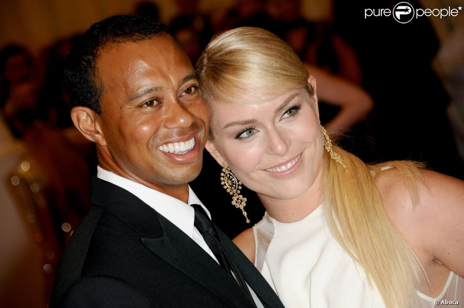 "Tiger Woods et Lindsey Vonn lors de la soirée ""Punk: Chaos to Couture"" lors du Costume Institute Benefit Met Gala au Metropolitan Museum of Art à New York le 6 mai 2013"
