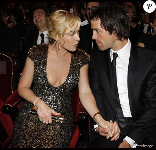 Kate Winslet et son mari Ned Rocknroll aux César du Cinéma le 24 février 2012.