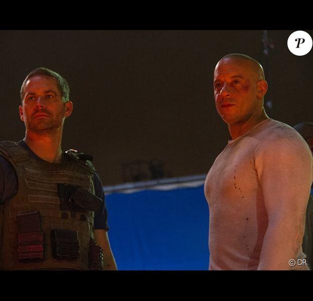 Paul Walker avec Vin Diesel lors de la dernière scène tournée dans Fast & Furious 7 avant la mort de Paul Walker.