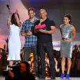 Paul Walker aux côtés de Jordana Brewster, Vin Diesel et Michelle Rodriguez aux 2013 MTV Movie Awards à Los Angeles, le 14 juin.