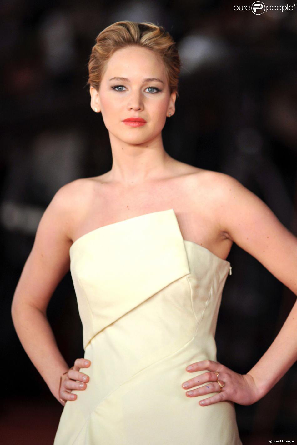 Jennifer Lawrence à Rome le 15 novembre 2013.