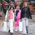Lori Loughlin et ses filles Isabella et Olivia, à Aspen, le 21 décembre 2010.