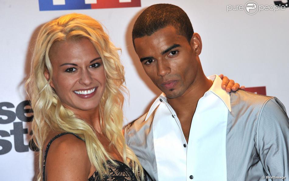 Katrina Patchett et Brahim Zaibat lors de la conférence de presse de Danse avec les stars 4 à Paris chez TF1 le 10 septembre 2013