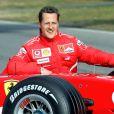 Michael Schumacher avec sa Ferrari 248F1 sur le circuit du Mugello, le 24 janvier 2006