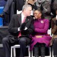 Bill de Blasio et sa femme Chirlane McCray lors de l'intronisation de Bill de Blasio, à New York, le 1er janvier 2014.