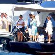 Exclusif - La princesse Beatrice d'York a pu profiter du luxe du yacht de Lakshmi Mittal, l'Amevi, comme ici le 30 décembre 2013, pour ses vacances à Saint-Barthélemy avec son boyfriend Dave Clark.