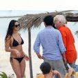 Exclusif - Demi Moore a choisi de passer ses vacances de fin d'année avec sa fille, Rumer, mais aussi son nouvel amoureux, Sean Friday, 27 (!) ans. Ils sont à Cancun au Mexique le 29 décembre 2013