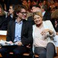 Mélanie Thierry, enceinte, et son compagnon Raphaël lors de la soirée d'ouverture du Festival Lumière 2013 le 14 octobre