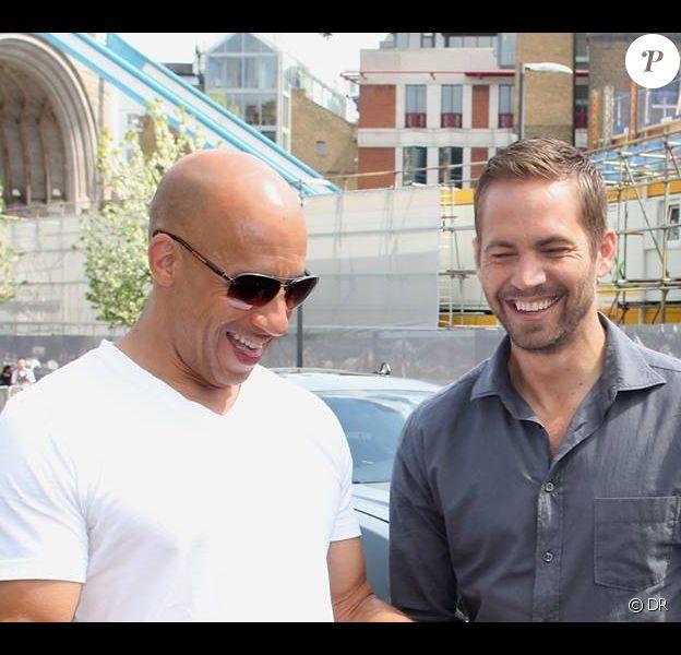 Vin Diesel et Paul Walker, partenaires dans Fast & Furious 7.
