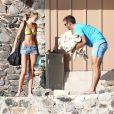 Paulina Gretzky profite du soleil d'Hawaï en compagnie de son fiancé Dustin Johnson qui dispute le tournoi de Lahaina, le 5 janvier 2014