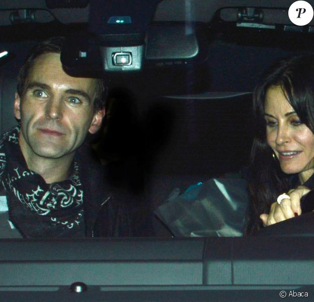 Courteney Cox et Johnny McDaid sortent du restaurant Craig's à West Hollywood, le 9 janvier 2014.