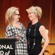 Meryl Streep avec Emma Thompson pendant la soirée des National Board of Review Awards 2014 à New York le 7 janvier 2014.