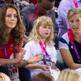 Lady Louise Windsor avec Kate Middleton et la comtesse Sophie de Wessex le 30 août 2012 lors des Jeux paralympiques de Londres