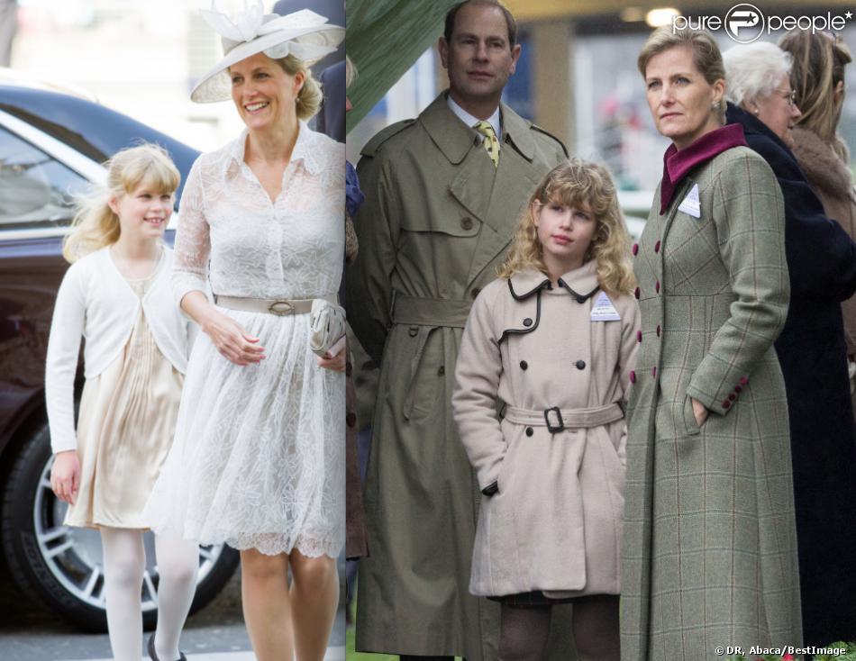 Lady Louise Windsor, fille du prince Edward et de la comtesse Sophie de Wessex, le 4 juin à Westminster et le 21 décembre à Ascot. Entre les deux, une intervention chirurgicale a corrigé le problème d'exotropie de la petite-fille de la reine Elizabeth II.