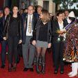 La princesse Stéphanie de Monaco arrive avec ses filles Pauline Ducruet et Camille Gottlieb et son frère le prince Albert au chapiteau de Fontvieille le 19 janvier 2014 pour une représentation du 38e Festival International du Cirque de Monte-Carlo.