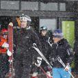 Le prince Felipe d'Espagne fait du ski dans la station de Formigal en Espagne le 19 janvier 2014.