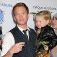 Neil Patrick Harris et sa fille lors de la première du spectacle Totem du Cirque du Soleil à Santa Monica, le 21 janvier 2014.