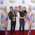 Neil Patrick Harris avec son compagnon David Burtka avec leurs enfants lors de la première du spectacle Totem du Cirque du Soleil à Santa Monica, le 21 janvier 2014.