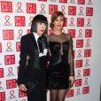 Chantal Thomas et Mareva Galanterassistent au Dîner de la mode contre le sida, au pavillon d'Armenonville. Paris, le 23 janvier 2014.