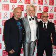 Les artistes Pierre et Gilles et la photographe Ellen Von Unwerthassistent au Dîner de la mode contre le sida, au pavillon d'Armenonville. Paris, le 23 janvier 2014.