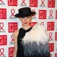 Olga Sorokina, propriétaire et créatrice de la marque IRFE,assiste au Dîner de la mode contre le sida, au pavillon d'Armenonville. Paris, le 23 janvier 2014.