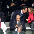François Hollande et Valérie Trieweiler le 10 décembre 2013 à Johannesburg lors de l'hommage à Nelson Mandela à Soccer City.