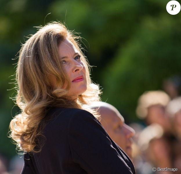 Valérie Trierweiler à l'Elysée lors des 29e Journées du Patrimoine le 16 septembre 2012. Le 25 janvier 2014, elle faisait ses adieux au palais et à son personnel suite à sa rupture avec François Hollande
