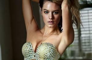 Camille Rowe : La jolie Française, craquante en lingerie